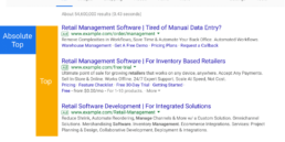 New Google Search position metrics