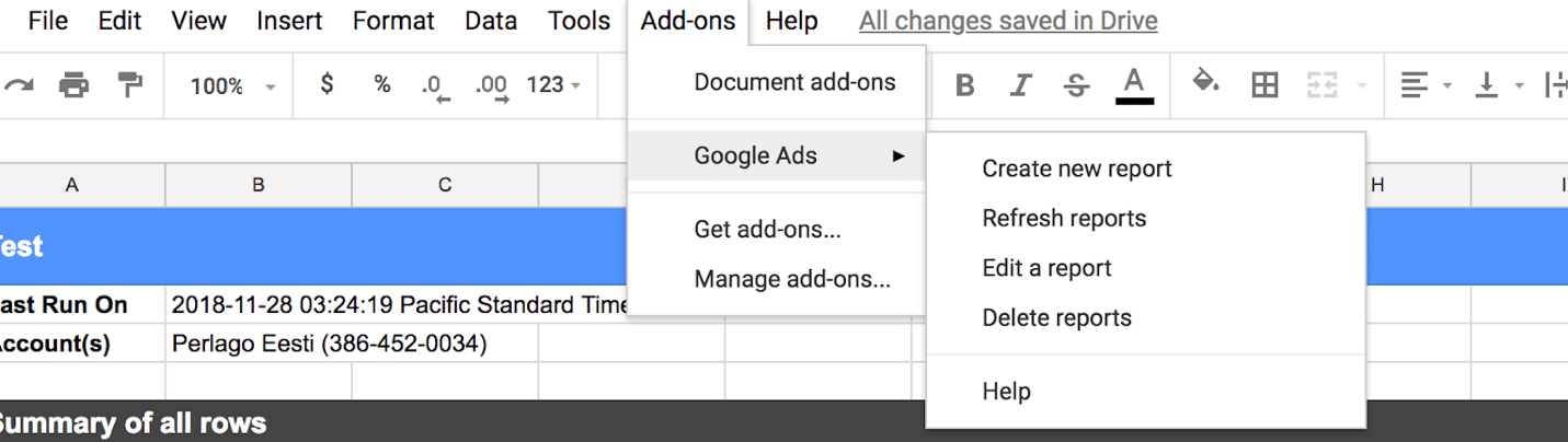 Spreadsheets Ads reporting add-on Top 3 Google Ads updates in November – you should definitely know these ones! Spreadsheet Ads reporting add on