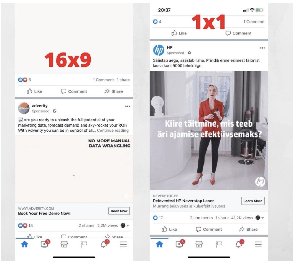 Which aspect ratio is best Facebook Ads